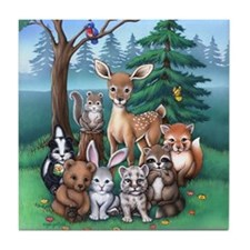 Forest Family Tile Coaster