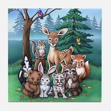 Forest Family Tile Coaster