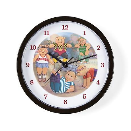 Aeropigs Wall Clock