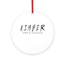 Kimber Auto Ornament (Round)
