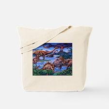 Funny Dinosaurs Tote Bag