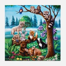 Forest Friends Tile Coaster