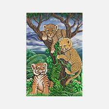 Jungle Kittens Rectangle Magnet