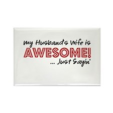 Husbands Wife Awesome Rectangle Magnet