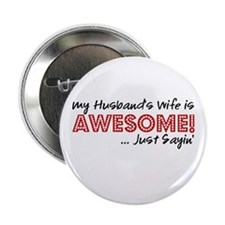 "Husbands Wife Awesome 2.25"" Button"