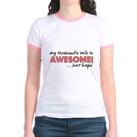 Husbands Wife Awesome Jr. Ringer T-Shirt
