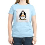 Gay Pride Girl Penguin Women's Pink T-Shirt
