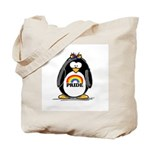 Gay Pride Girl Penguin Tote Bag