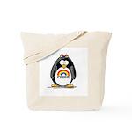 Gay Pride Girl Penguin Tote Bag