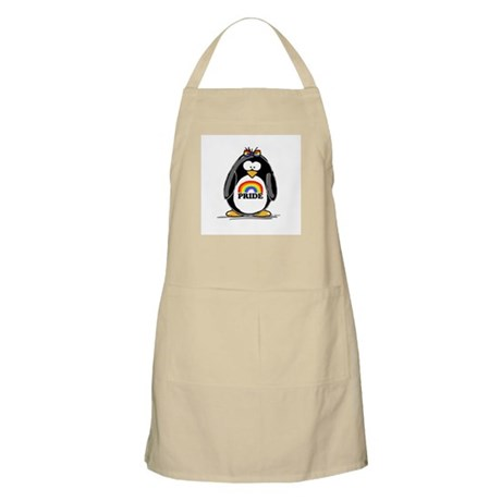 Gay Pride Girl Penguin BBQ Apron