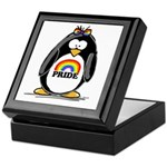 Gay Pride Girl Penguin Keepsake Box