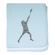 Lacrosse Lingo baby blanket