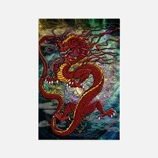 Chinese Dragon Rectangle Magnet