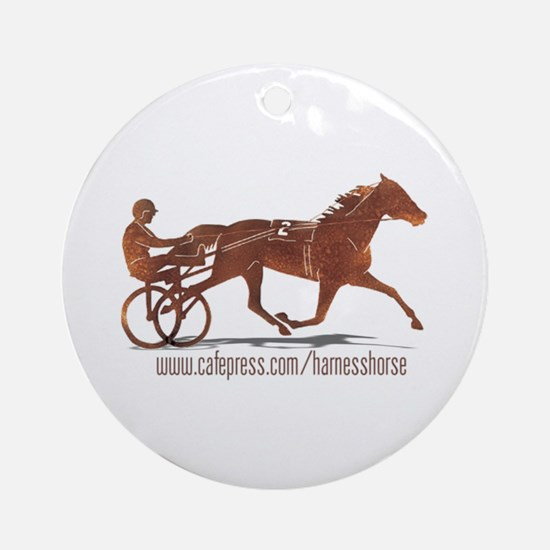 www Harness Horse Ornament (Round)