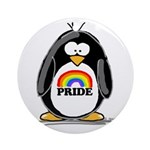GLBT Penguin Ornament (Round)