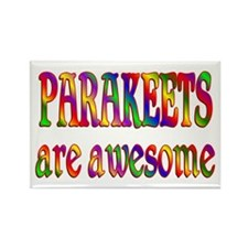 Awesome PARAKEETS Rectangle Magnet