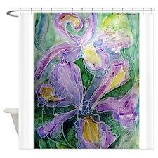 Irises! Beautiful floral art! Shower Curtain