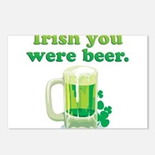 Irish You Were Beer Postcards (Package of 8)