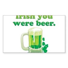 Irish You Were Beer Stickers