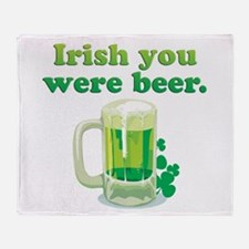 Irish You Were Beer Throw Blanket