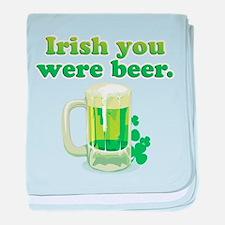 Irish You Were Beer baby blanket