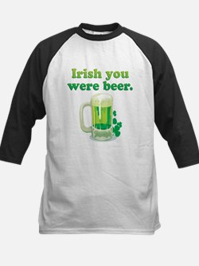 Irish You Were Beer Kids Baseball Jersey