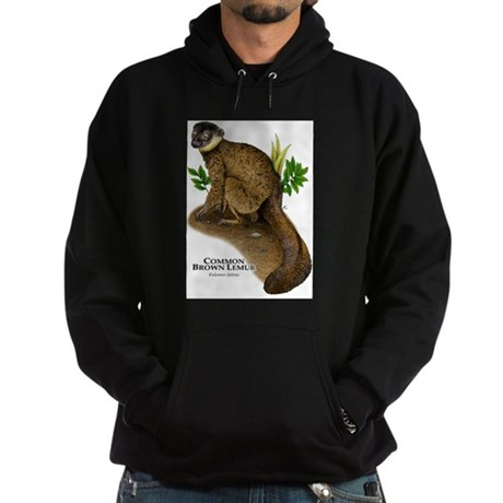 Common Brown Lemur Hoodie (dark)