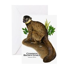 Common Brown Lemur Greeting Card