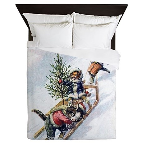 Cats in the Snow Queen Duvet