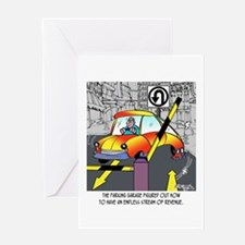 An Endless Stream of Parking Revenue Greeting Card