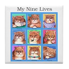 Nine Lives Tile Coaster
