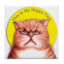 Happy Face Moods Tile Coaster