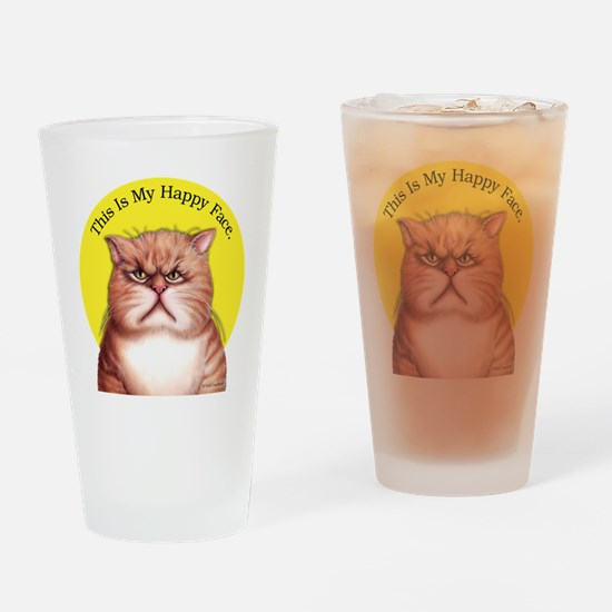 Unique Cat face Drinking Glass