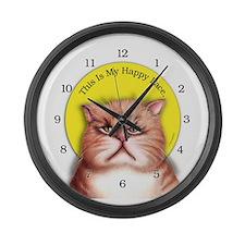 My Many Moods Large Wall Clock