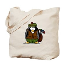 Golf Penguin Tote Bag