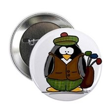 Golf Penguin Button