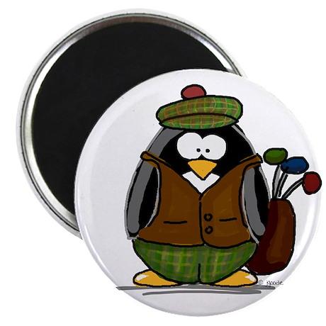 Golf Penguin Magnet