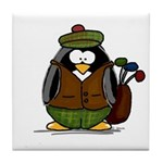 Golf Penguin Tile Coaster
