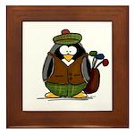 Golf Penguin Framed Tile