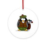 Golf Penguin Ornament (Round)