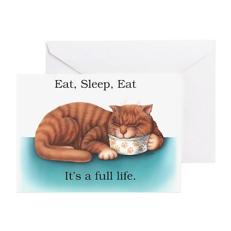 Eat, Sleep, Eat Greeting Cards (Pk of 20)