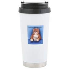Coffee Cat Travel Mug