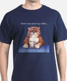 Coffee Cat Black T-Shirt