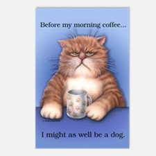 Coffee Cat Postcards (Package of 8)