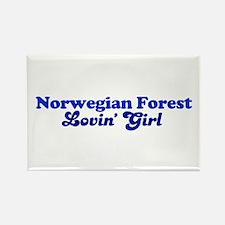 Norwegian Forest Cat Loving G Rectangle Magnet