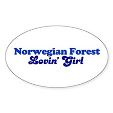 Norwegian Forest Cat Loving G Oval Decal