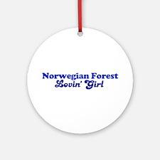 Norwegian Forest Cat Loving G Ornament (Round)