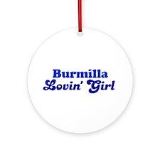 Burmilla Cat Loving Girl Ornament (Round)
