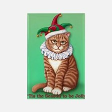Christmas Fool Rectangle Magnet