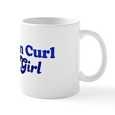 American Curl Cat Loving Girl Mug
